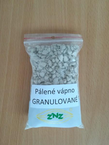 Vzork páleného vápna granulovaného